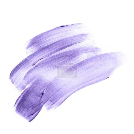 Beautiful textured Ultra Violet melallic strokes isolated on white background.