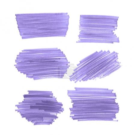 Set of Ultra Violet Brush strokes