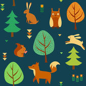 Cute seamless forest background