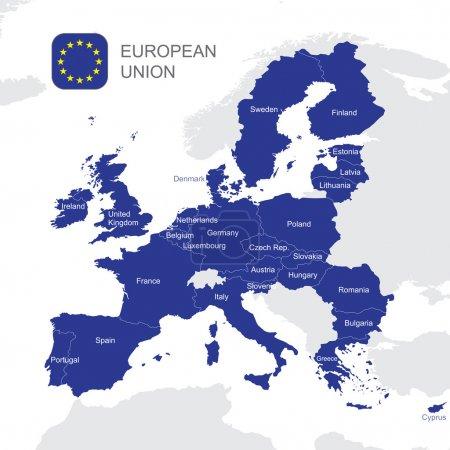 The European Union map