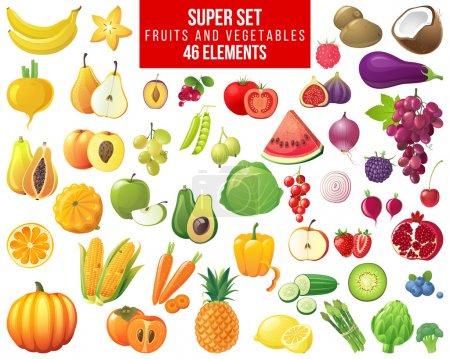 fruits, vegetables and berries super set