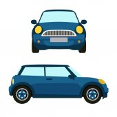 blue car vector isolated