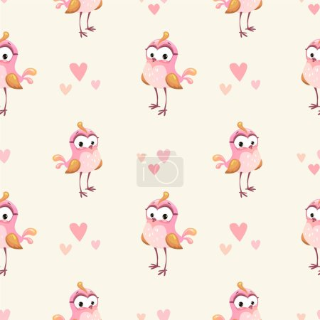 Cute girlish seamless pattern