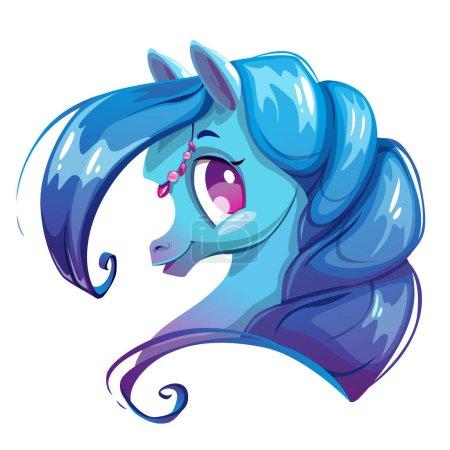 Beautiful cartoon horse face.