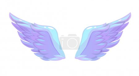 Beautiful angel wings icon. Isolated on white. Vec...