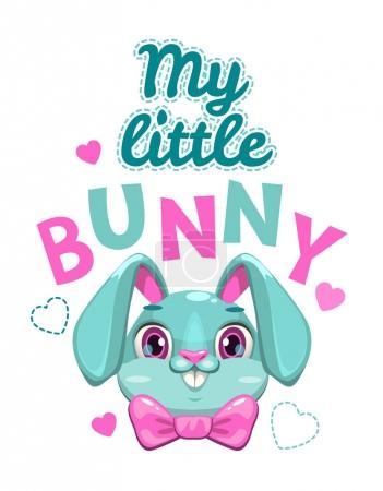 My little bunny vector illustration.