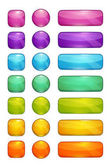 Colorful glossy buttons set Isolated vector elements for web or game design