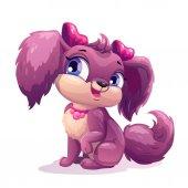 Little cute cartoon puppy girl