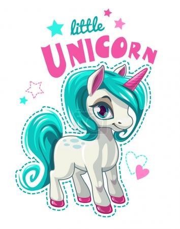 Cute cartoon unicorn patch.