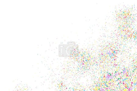 Colorful explosion of confetti
