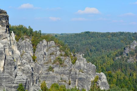 Elbe Sandstone Mountains view