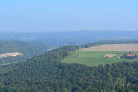 View on fields from Festung Konigstein fortress