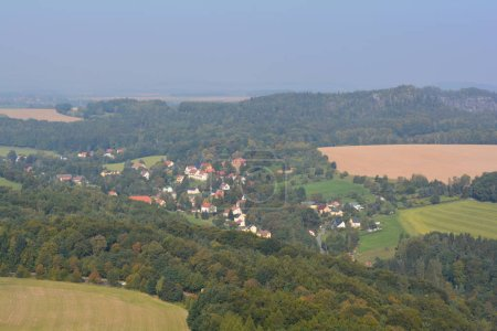 View on fields from Festung Konigstein fortress