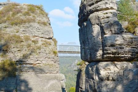 Elbe Sandstone Mountains view