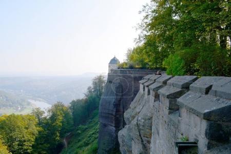 Elbe River from Festung Konigstein fortress