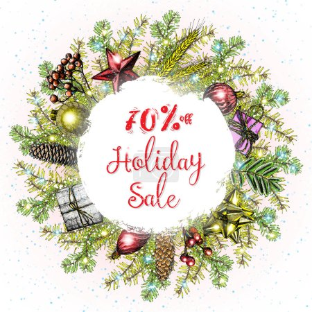 Holiday sale banner template