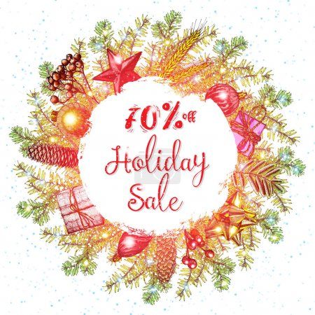 Holidays sale advertising banner