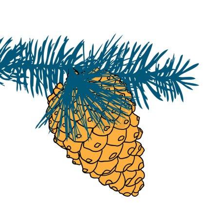 Handdrawn cone sketch
