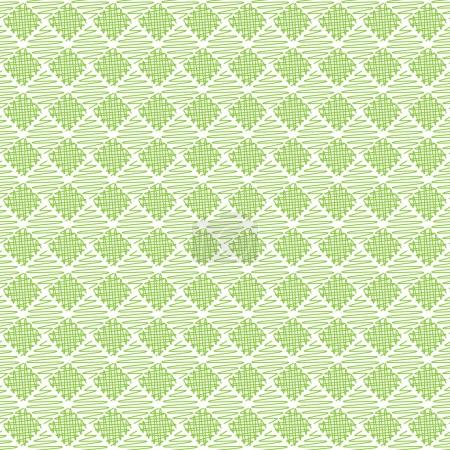 Seamless cross pattern in green color