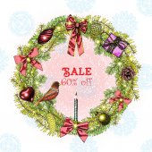 Christmas sale 60 percent off blow out sale crazy holiday discount poster
