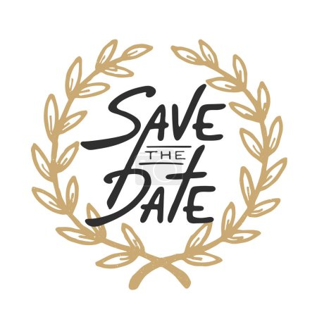 Save the Date invite greeting card vector template