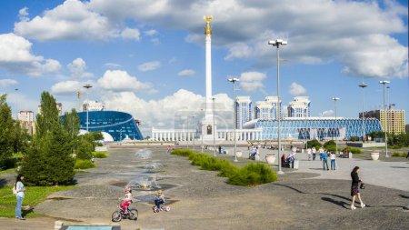 The monument Kazakh Eli in Astana city.