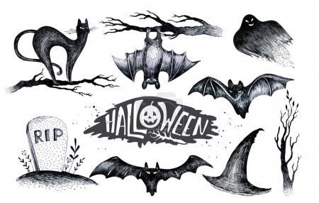 Halloween set of  icons