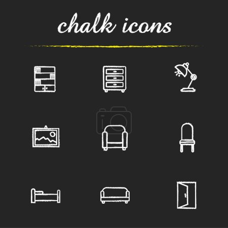 House furniture icons set.