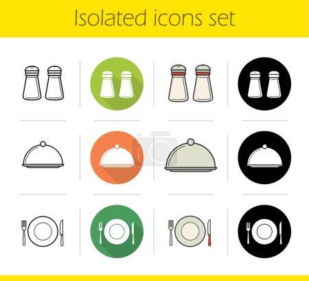 Restaurant kitchen equipment icons