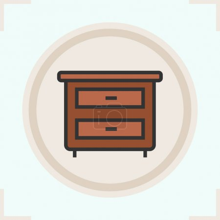 Nightstand color icon