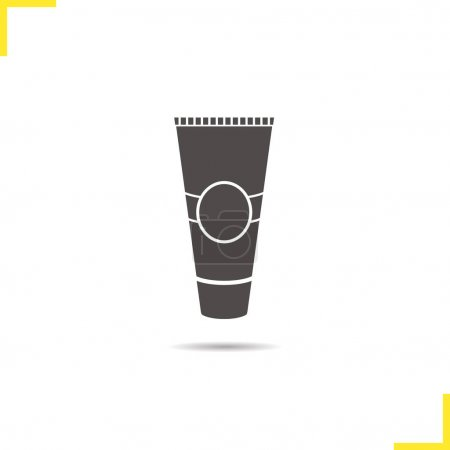 Tube for cream icon