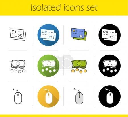 Online banking icons set