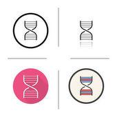 DNA chain model icon
