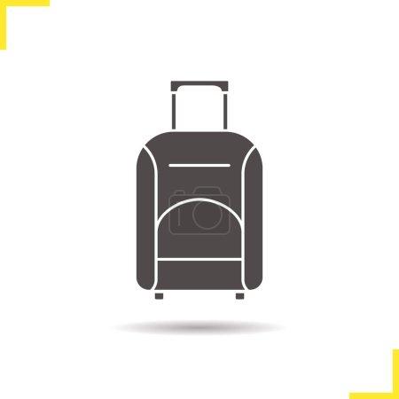 Luggage suitcase on wheels icon