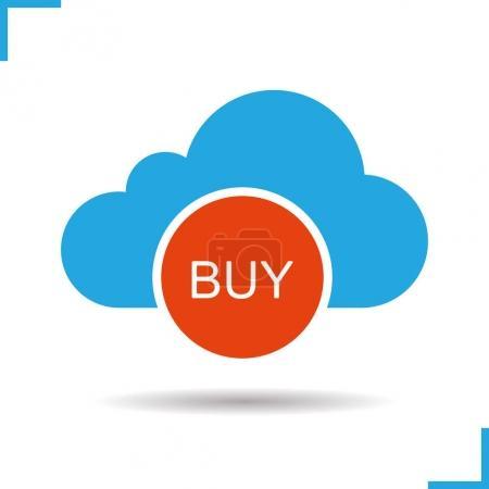Buy cloud storage icon