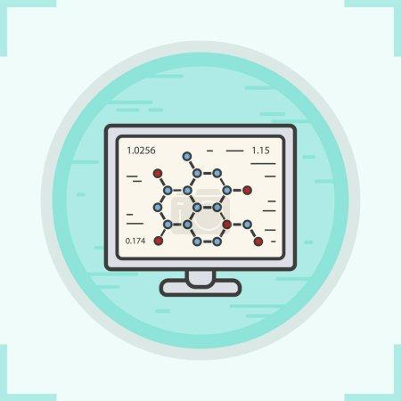 Laboratory computer color icon