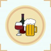 Beer flat icon vector illustrations