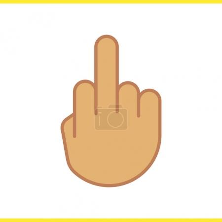 Middle finger up icon