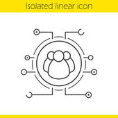 User group linear icon vector illustration