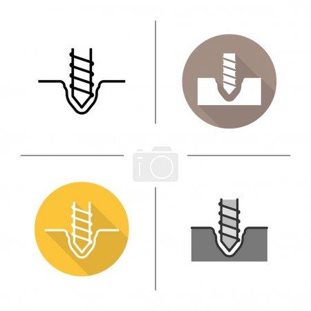 Drilling icons set