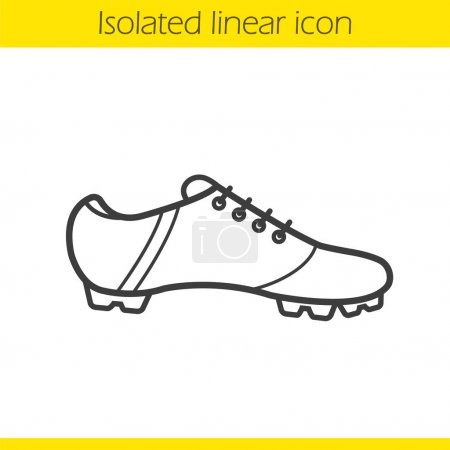 Football boot linear icon