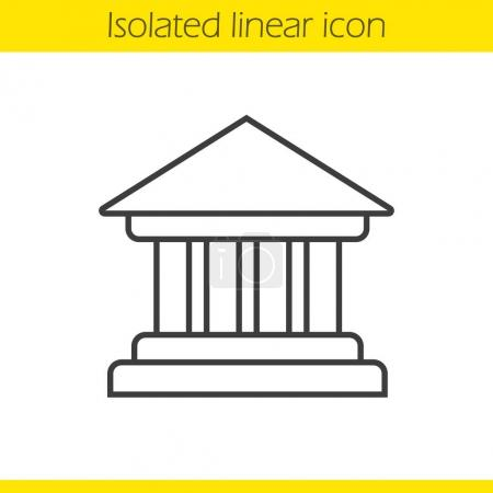 Bank building linear icon