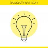 Good idea linear icon Light bulb thin line illustration Eureka contour symbol Vector isolated outline drawing