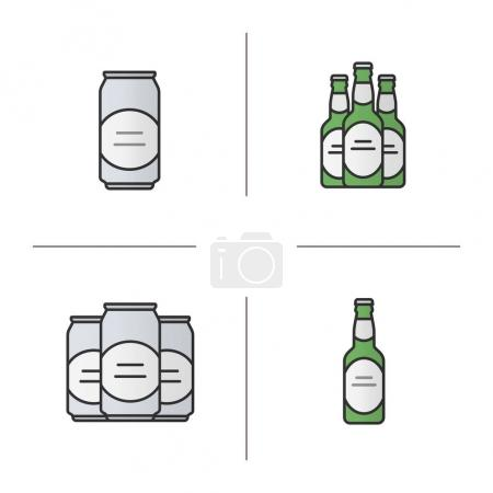 Beer color icons set