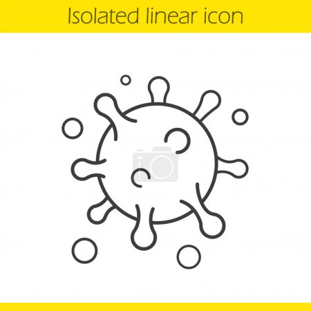 Virus cell linear icon