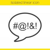 Dirty language linear icon