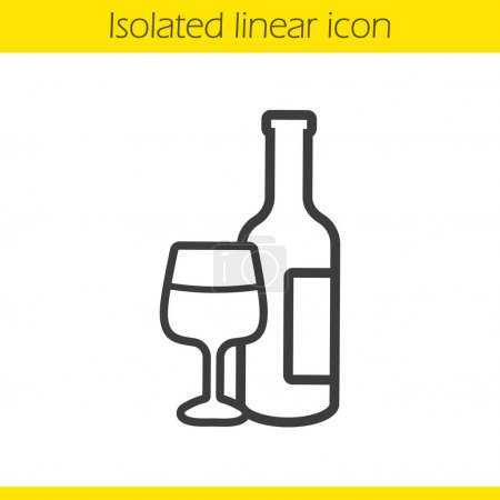 Wine linear icon