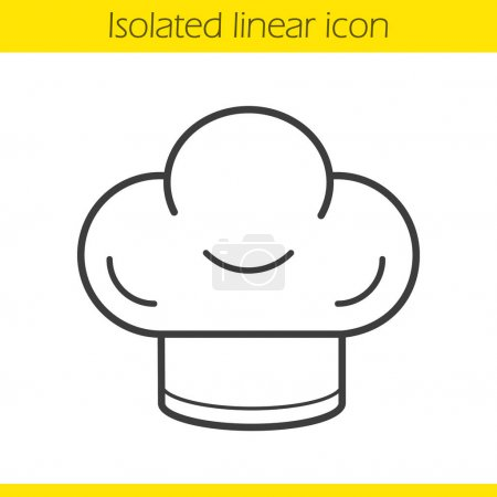 Chef's hat linear icon
