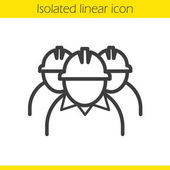 Mine workers linear icon