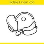 Meat products linear icon